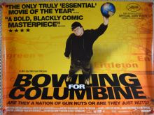 Bowling for Columbine, Original DS UK Quad Poster, Michael Moore, '02